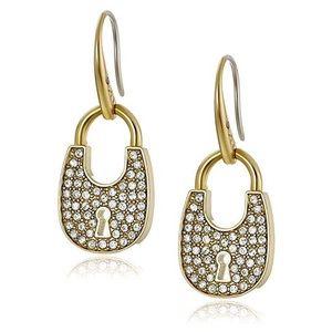 NIB Michael Kors Heritage Padlock Earrings